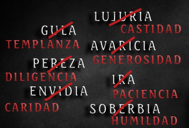Virtudes de los 7 pecados capitales