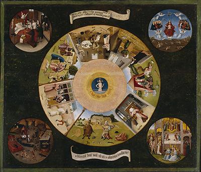 La mesa de los pecados capitales