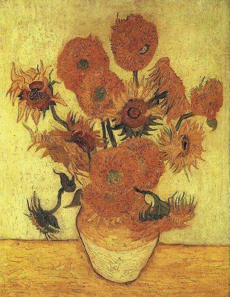 Jarrón con catorce girasoles del museo Neue Pinakothek - Van Gogh