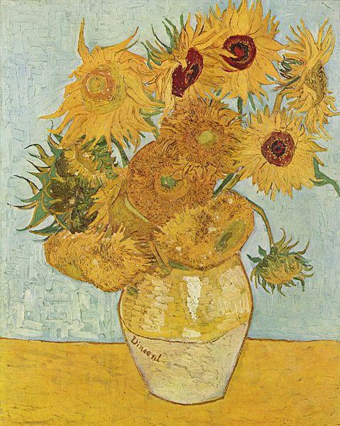 Jarrón con doce girasoles del museo Neue Pinakothek - Van Gogh
