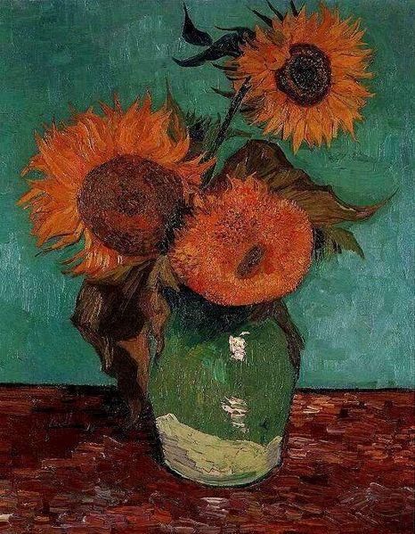 Jarrón con tres girasoles - Van Gogh