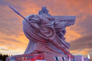 Guan yu estatua - Sendas del viento