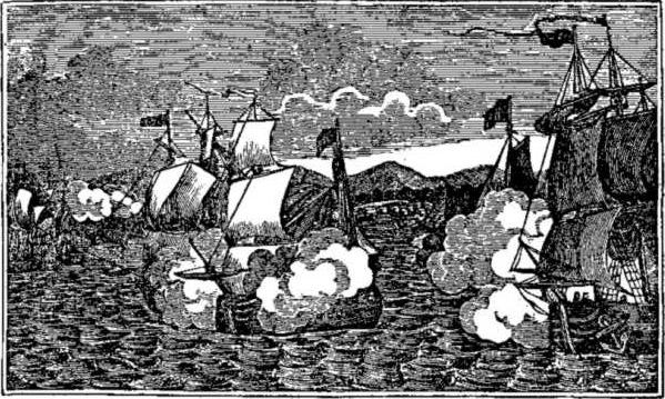 El capitan Kidd atacando barco de origen mongol