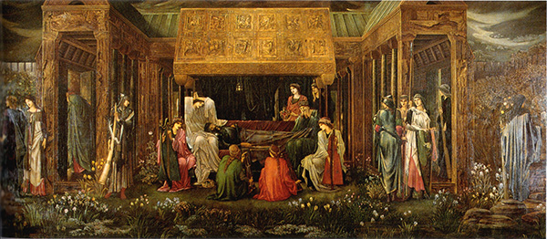 El último sueño de Arturo en Avalon - Edward Burne-Jones