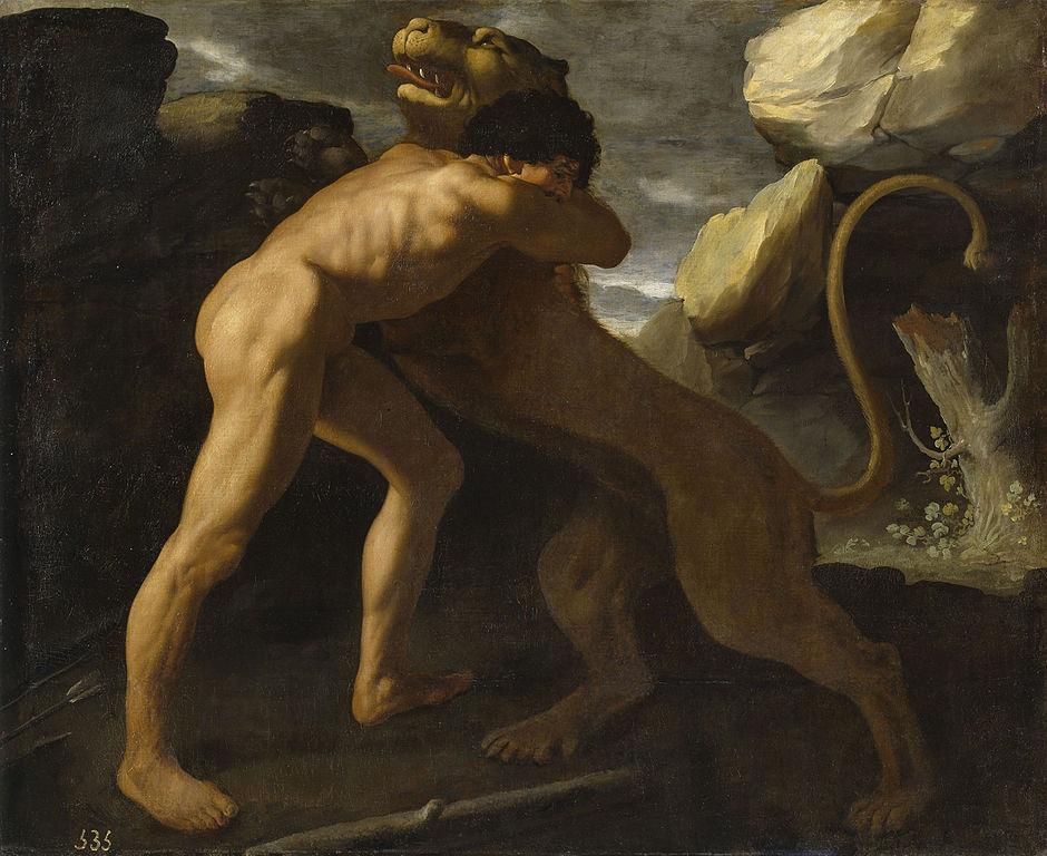 Hércules luchando contra el León de Nemea