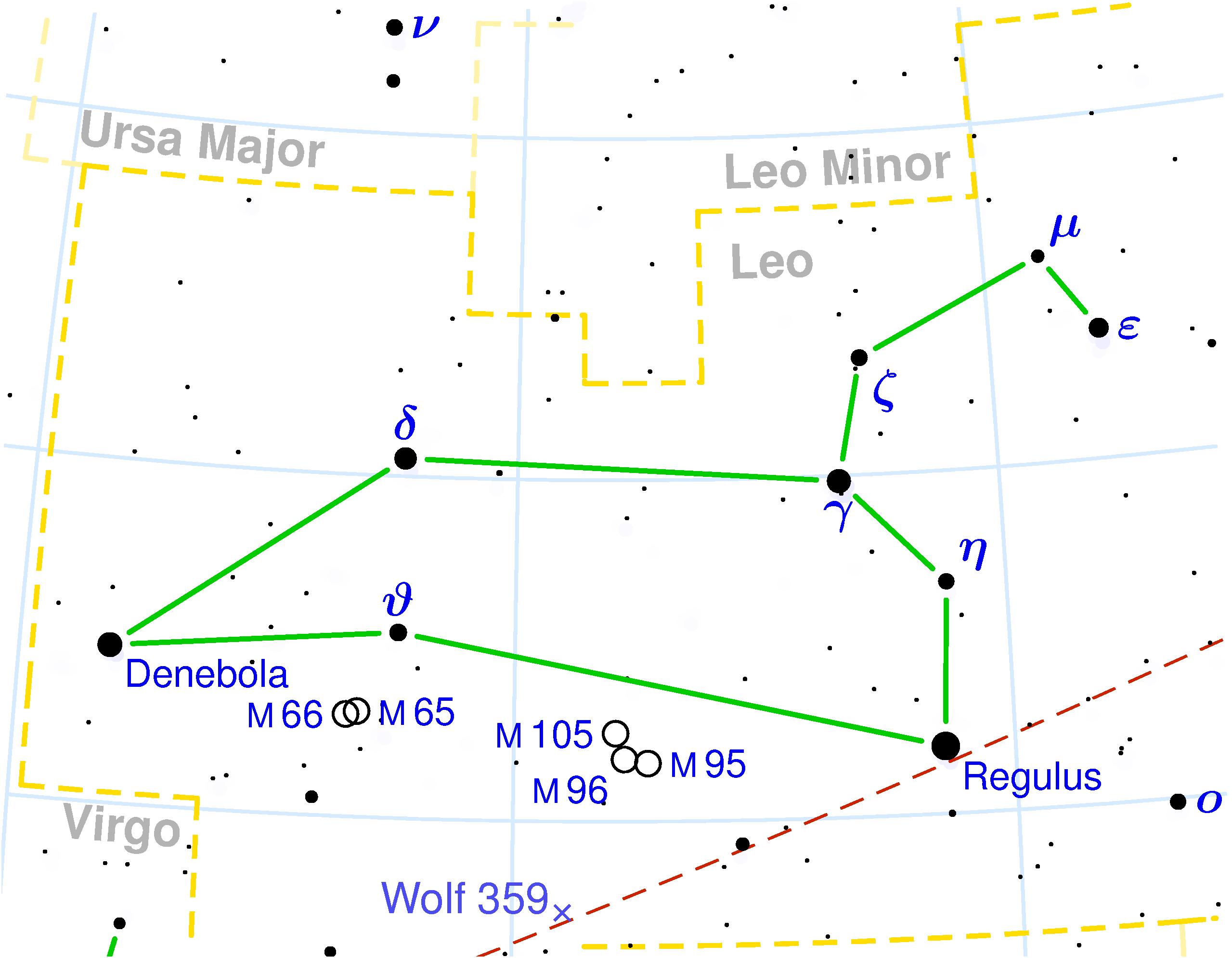 Localización constelacion de Leo