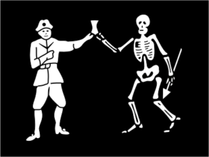 Bandera pirata de Bartholomew Roberts - Death