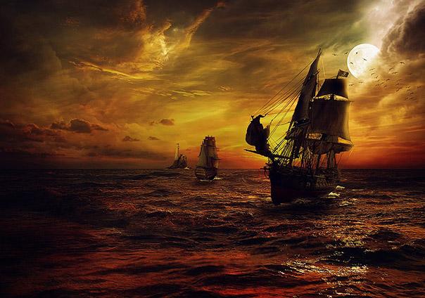 Partes barco pirata - Sendas del viento