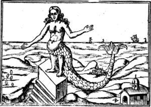 Ilustración para la obra de Athanasius Kircher de la diosa Derceto